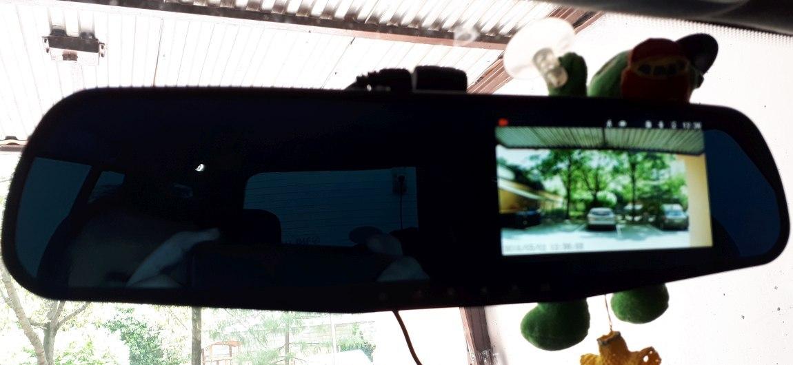 Tükörkamera a gyári tükörre rögzítve