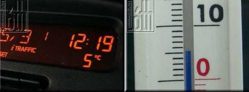 Külső hőmérő gyári megoldással - 24. kép