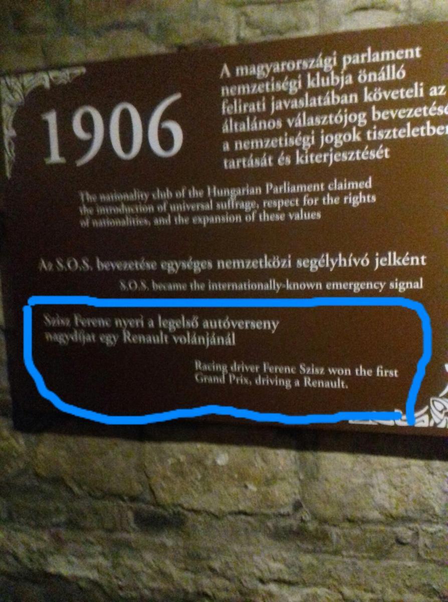 Sziszi Ferenc emléktábla - Titanic-kiállítás